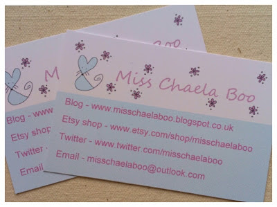 Miss Chaela Boo: Happy Post - business cards
