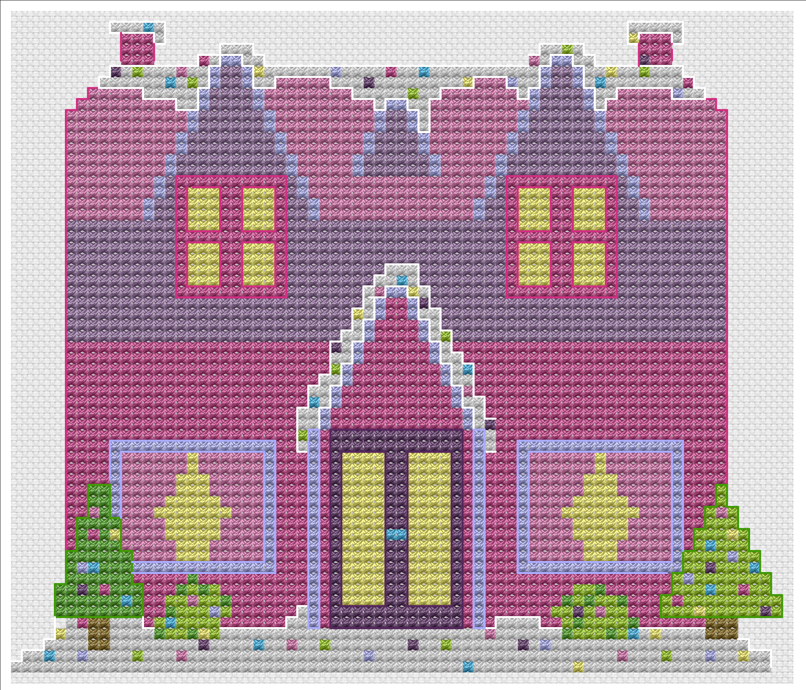 All the Whos Down in Whoville: Candy Manor Gingerbread House Pattern