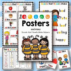 The a e i o u Posters - Sounds that Vowels Make Helpers