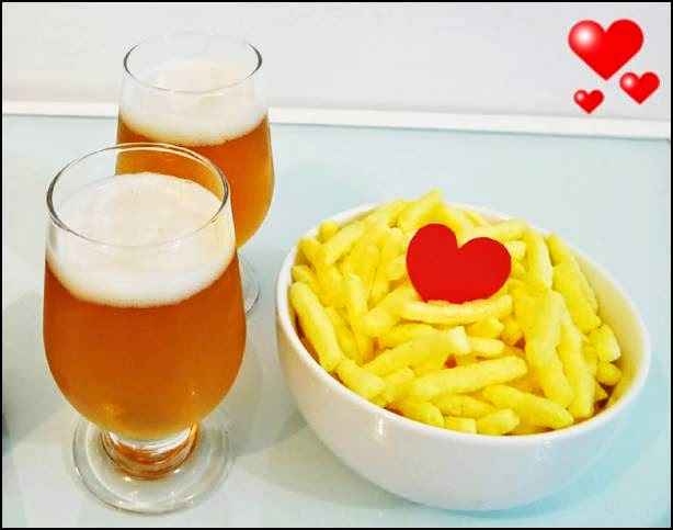 cerveja e batata frita