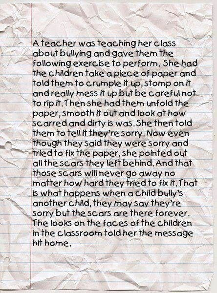 Novel approach to bullying