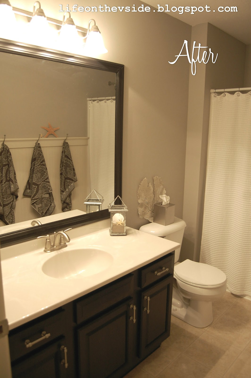 On the v side cure for what ails ya bathroom makeover for Guest bathroom makeover