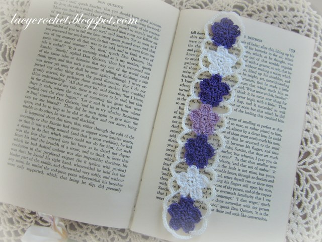 Crochet Patterns Bookmarks : Lacy Crochet: Crochet Flower Bookmark