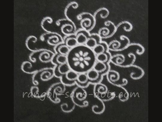 Make Simple Rangoli In 2 3 Or 4 Steps Kolam By Sudha Balaji