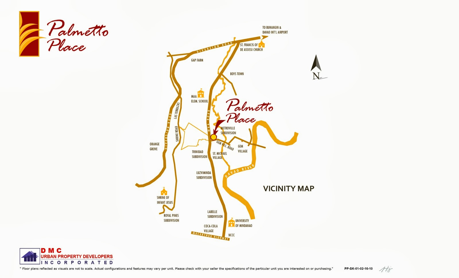 Palmetto Place Condominium, Ma-a, Davao City Vicinity Map
