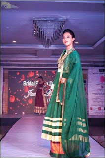 Priyanka Darjee (Laber) in ramp show BRIDAL RAAGA in Lucknow