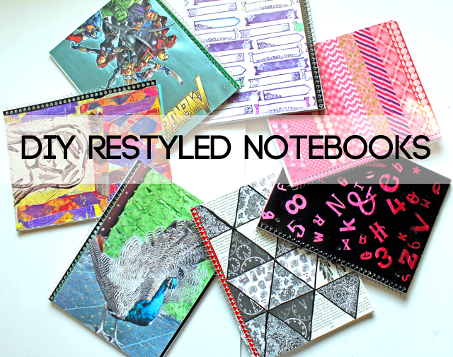 Creative Design To Cover Notebook : Punk projects letter sticker ombre notebook diy