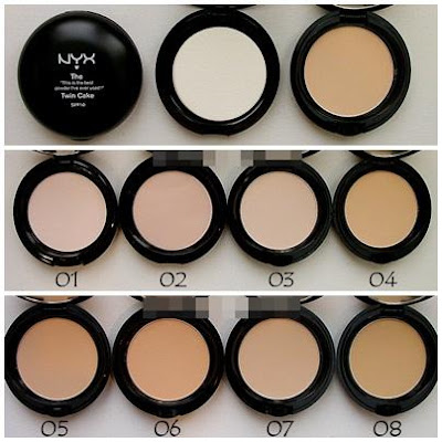 nyx twin cake powder cores