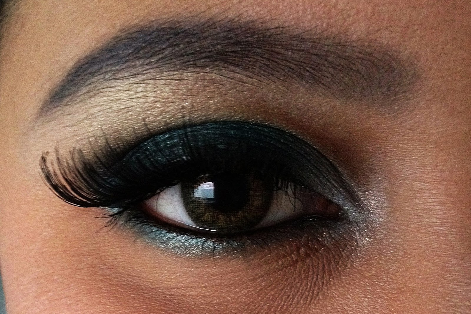 Вечерние макияж для зеленых глаз фото