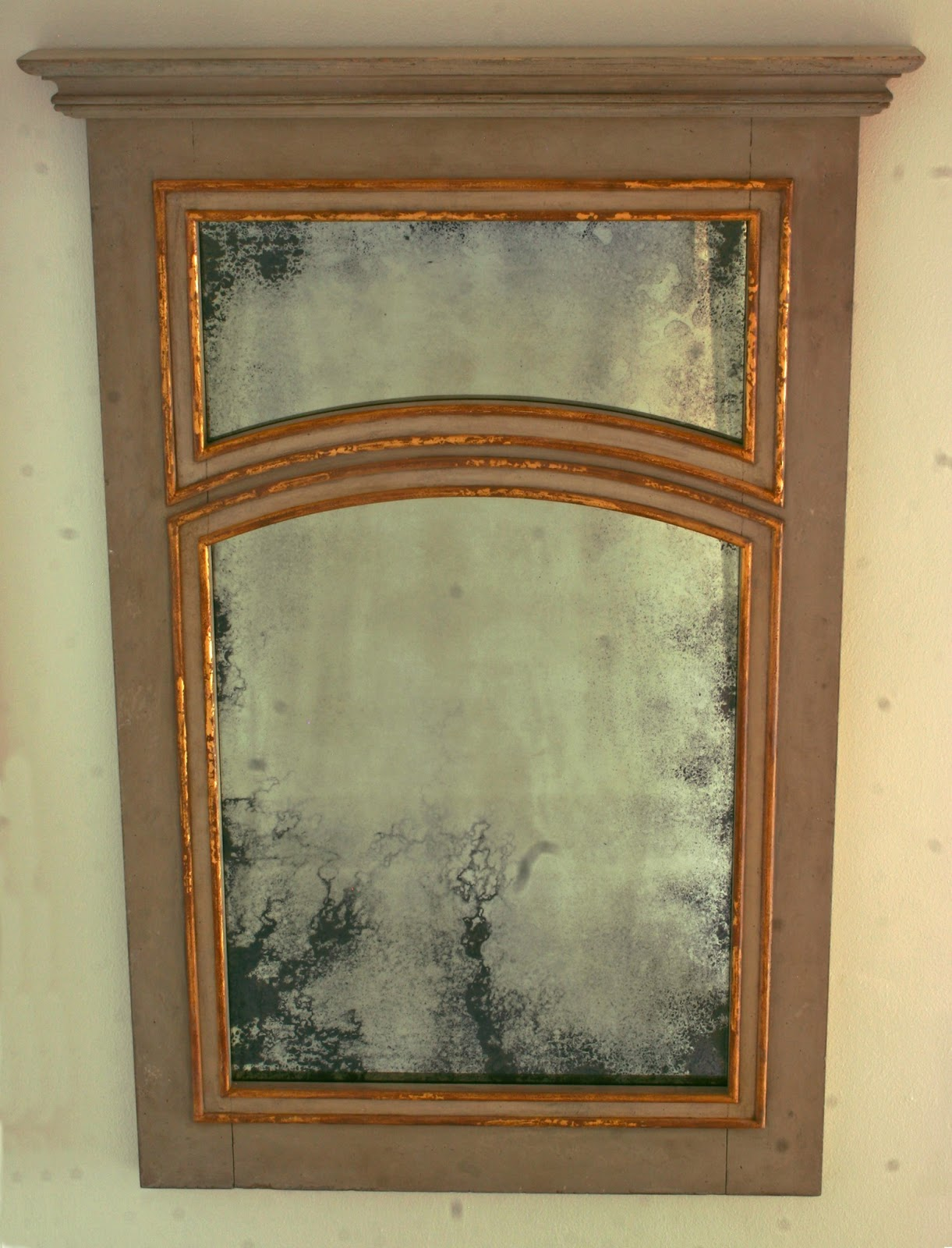 Inventia Design: 290 Swedish painted gilded trumeau mirror ...