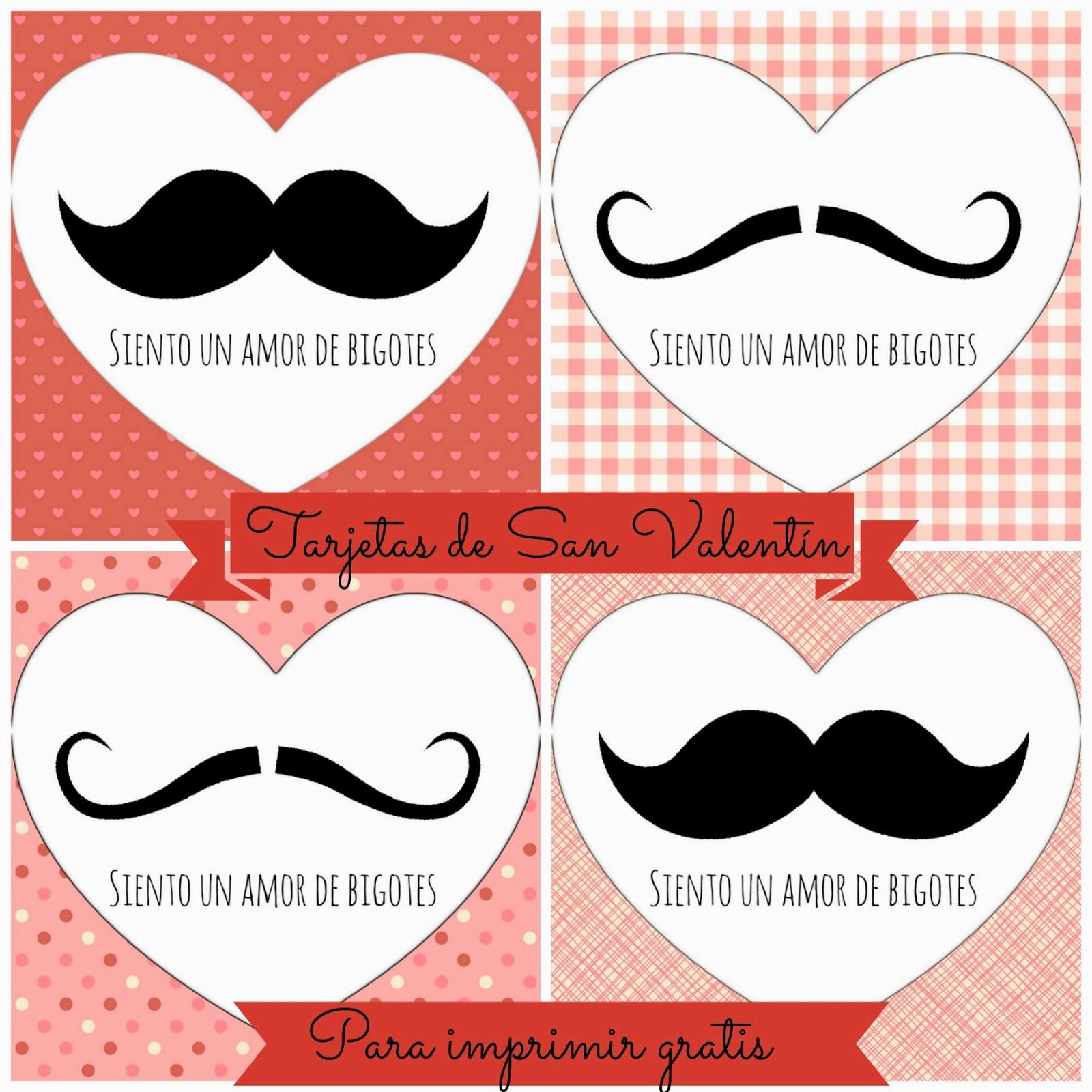 Tarjetas de San Valentín para imprimir. Freebies - Manzanaterapia