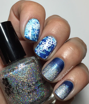KBShimmer Snowflakes Navy Blue Water Slide Decals & Alloy Matey!