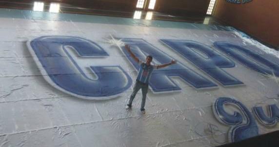 El telón más grande del Noa, es de Gimnasia de Jujuy