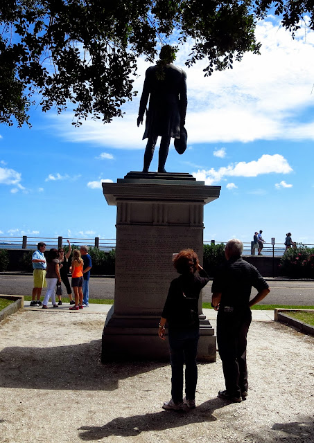 Statue of Moultrie in The Battery park in Charleston, South Carolina