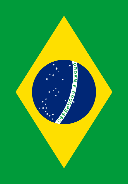 bandera de Brasil para imprimir