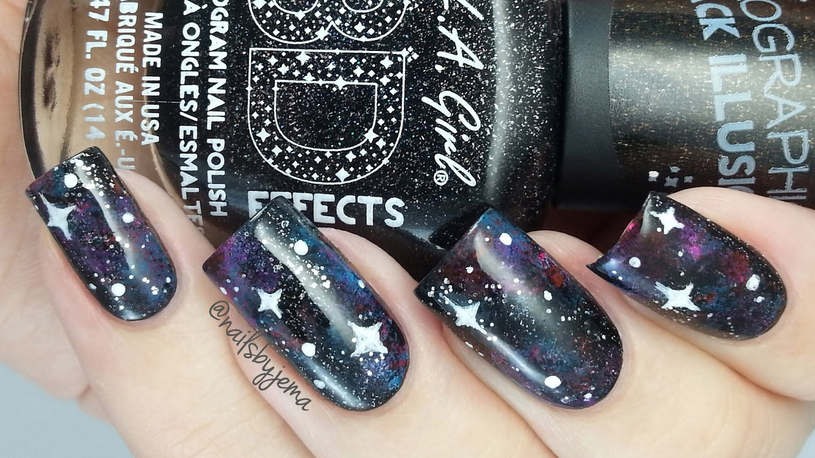 N A I L S B Y J E M A: Easy Galaxy Nails Tutorial