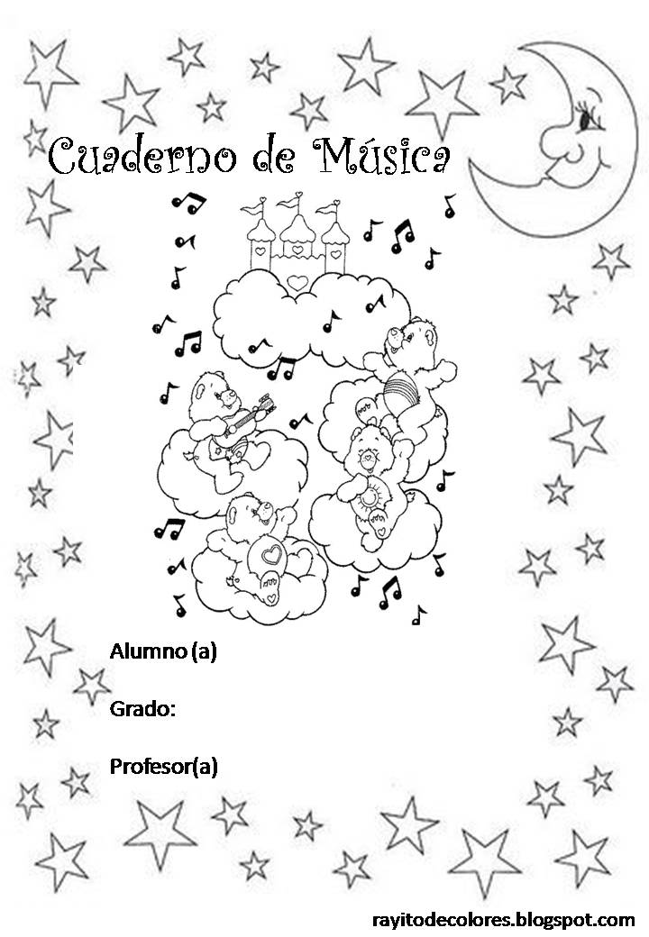 Carátula para cuaderno de Música
