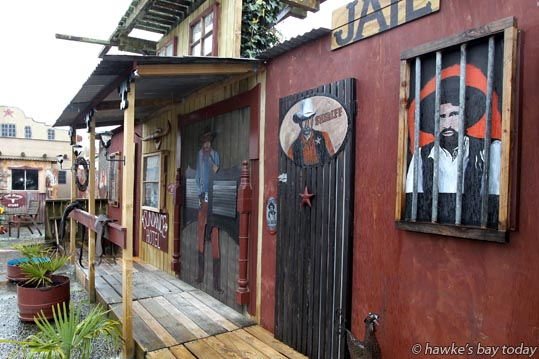One of the other buildings at Cactus Jacks, a soon-to-be-opened western-themed venue in Waipawa, Central Hawke's Bay, owned by Lee Walker. photograph