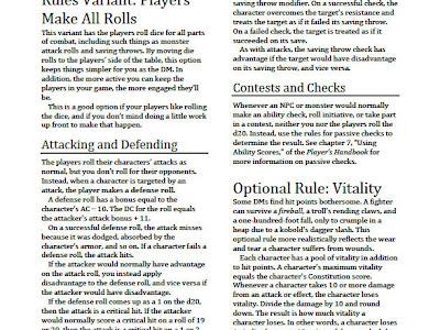 D&D 5: Reglas opcionales del Unearthed Arcana
