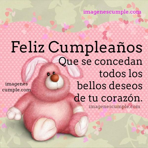 Bonita tarjeta de cumpleaños para mujer, niña, hija, chica con buenos deseos de feliz cumpleaños por Mery Bracho