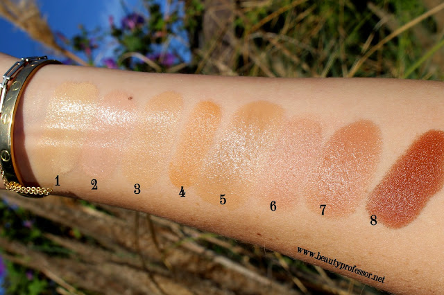gressa minimalist foundation swatches