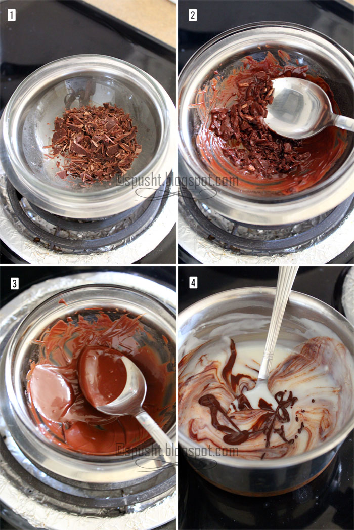 Spusht | Double Boiler Method Melting Chocolate for Pudding
