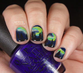 wondrously polished december nail art challenge  day 2