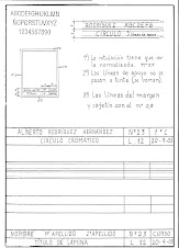 Instrucciones para el cajetín y margen de las láminas
