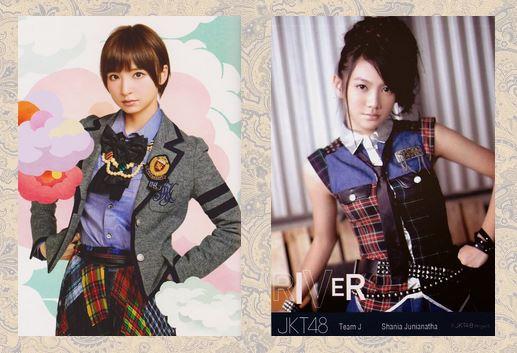 Mariko Shinoda (AKB48) % Shania Junianatha (JKT48)