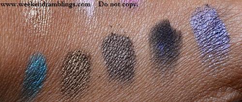 urban decay 15 year anniversary palette eyeshadows swatches deep end deeper mia blackout half truth