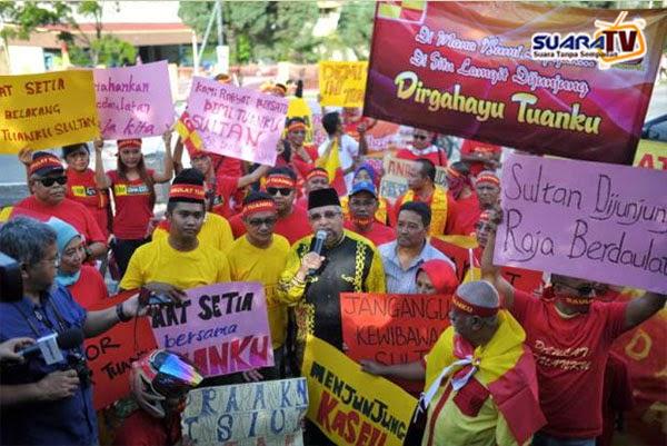 Himpunan Rakyat Menjunjung Kasih Keatas Sultan Selangor Bantah Tindakan PKR DAP