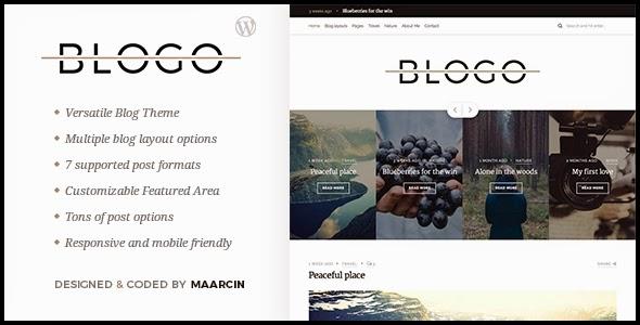 download Blogo - Responsive Blog WordPress Theme