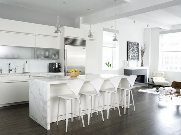 Decorating With White Contemporary Kitchen Kitchens