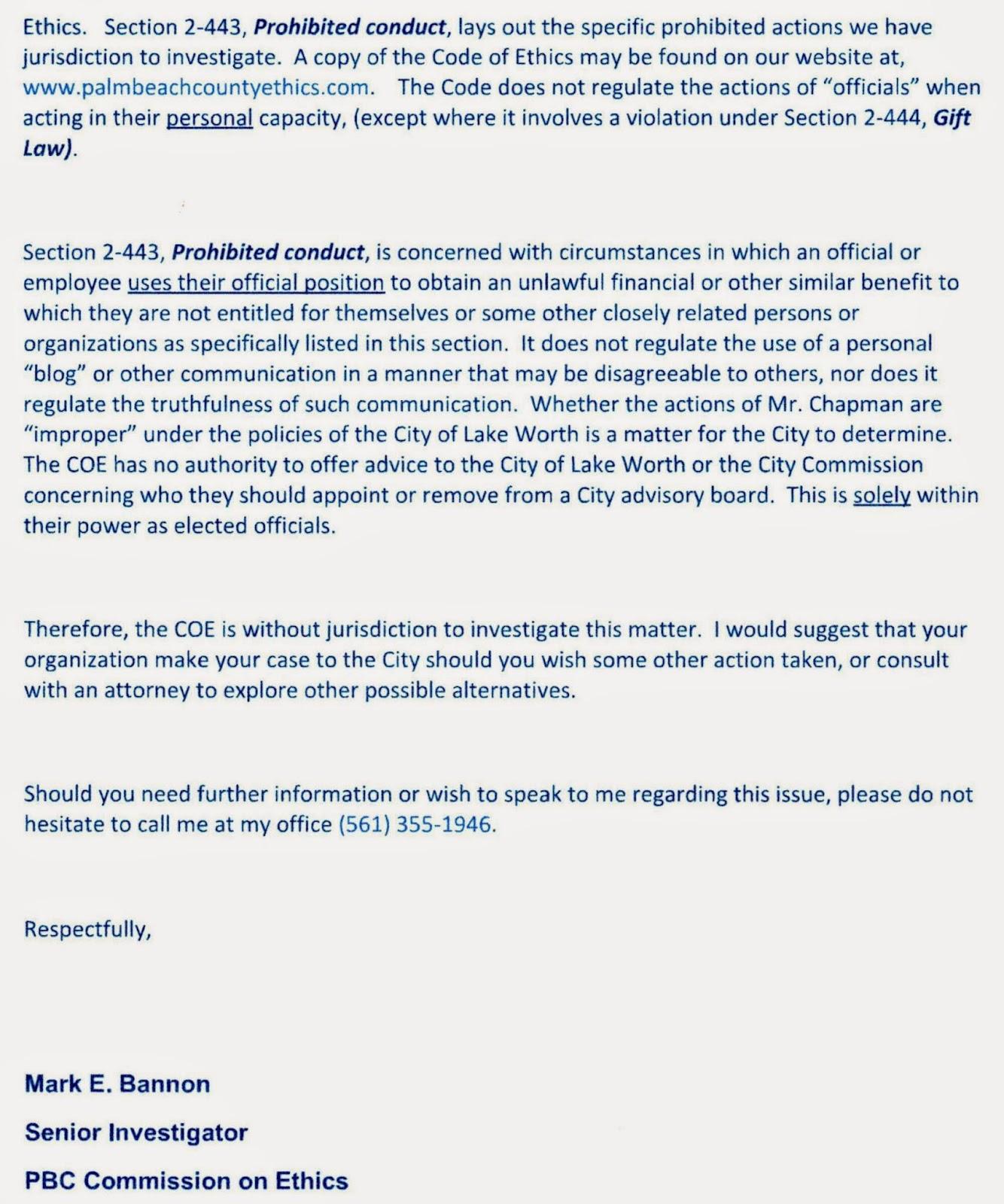 Wes Blackman S City Of Lake Worth 2014 09 14