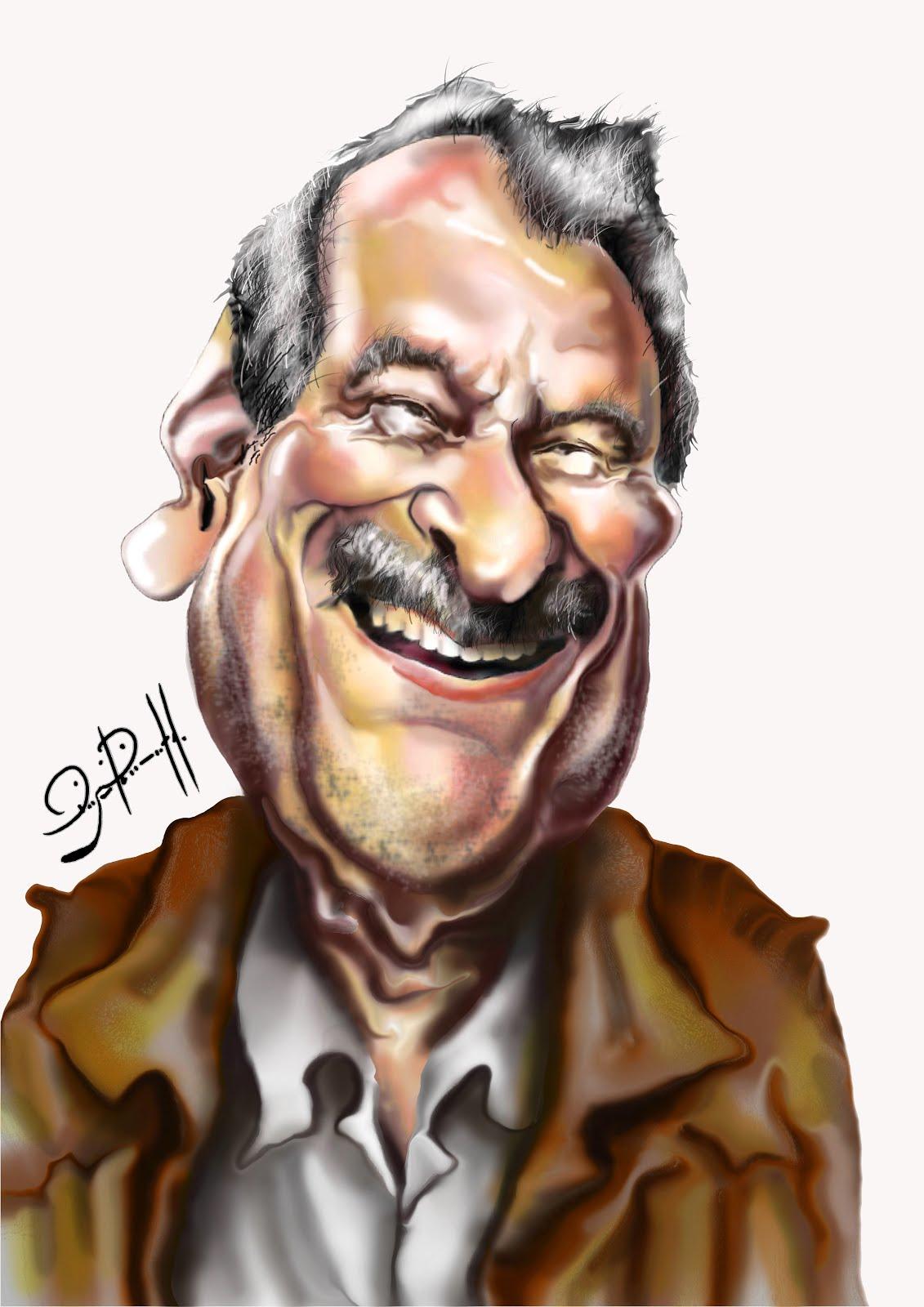 Ator Paulo Goulart_ caricatura digital