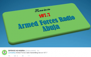 Nigerian Armed  Forces  Starts Live Radio Transmission