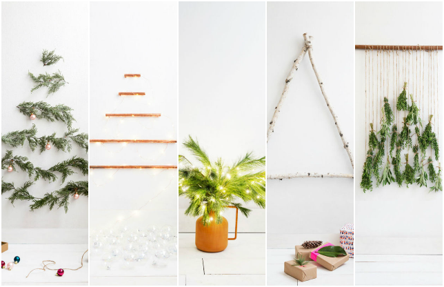 Árboles de Navidad low cost para espacios pequeños