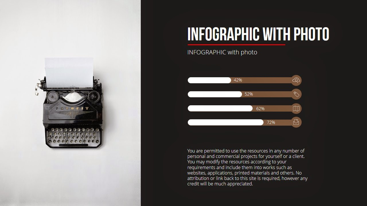 Free infographic ppt with chart and typewriter photo statistics and typewriter toneelgroepblik Gallery