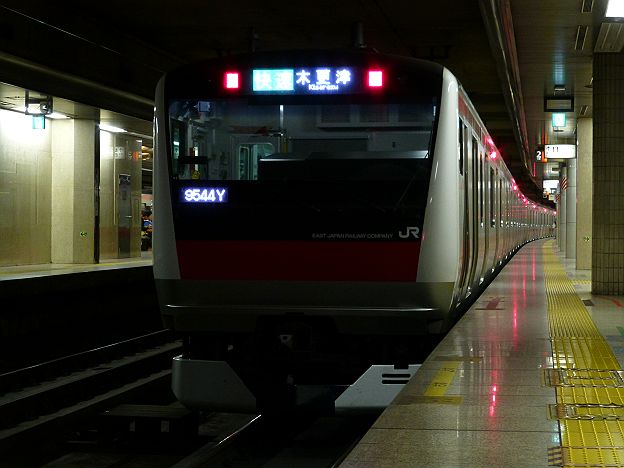 京葉線 E233系 木更津行き(ちばアクアラインマラソンに伴う運行)