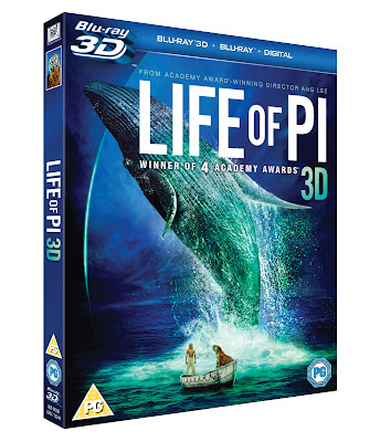 Life of Pi 3D Blu Ray DVD