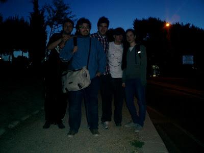 El equipo de La Quinta Esfera se despedía del Cerro de los Ángeles, cuando amanecía. Gracias Alerta Ovni 2012, gracias Milenio 3, Iker Jiménez y compañía.