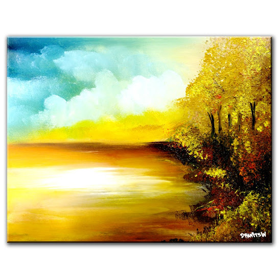 ABSTRACT LANDSCAPE PAINTING FREE ART LESSON