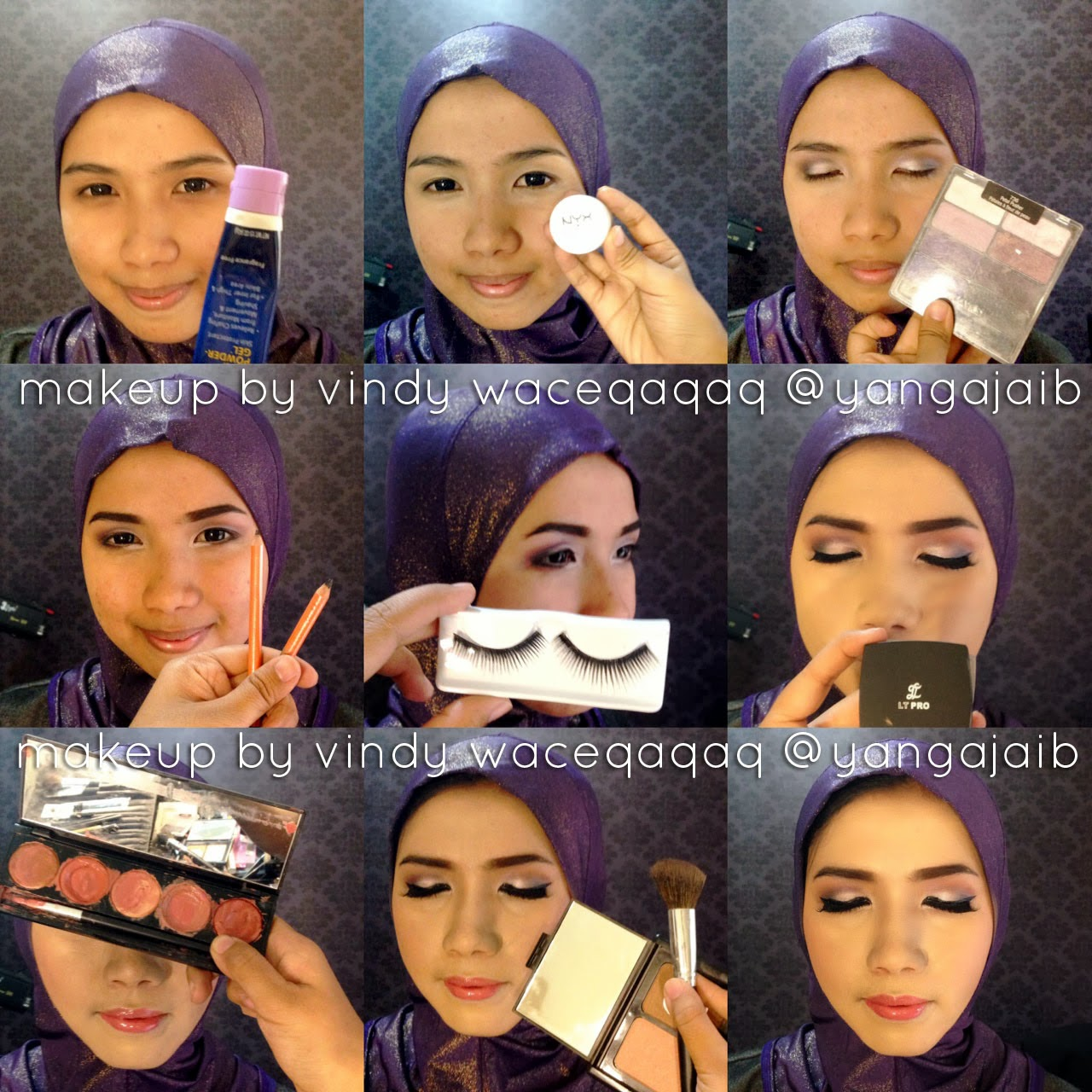 Ini Vindy Yang Ajaib Step By Step Aka Tutorial Hijab Dan Make Up