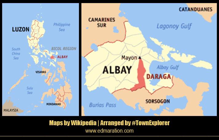 Map of Daraga, Albay