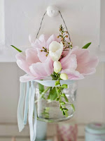 Декорация за окачване с пролетни цветя