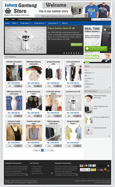 Template Blog Toko Online - Johny Ganteng Store