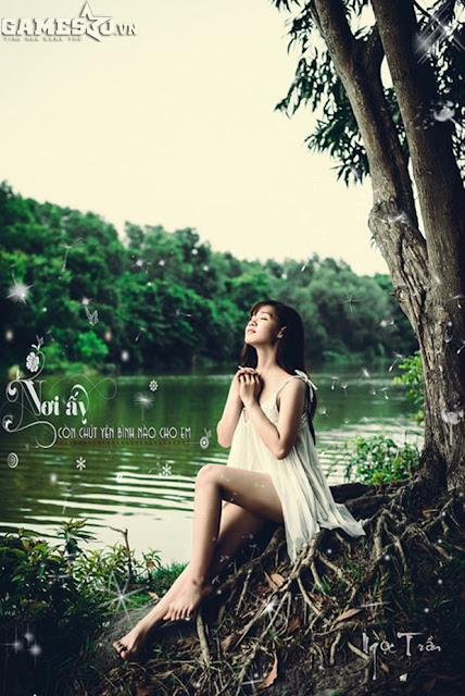 Ngọc Trần bán khỏa thân mộng mơ trong rừng 7