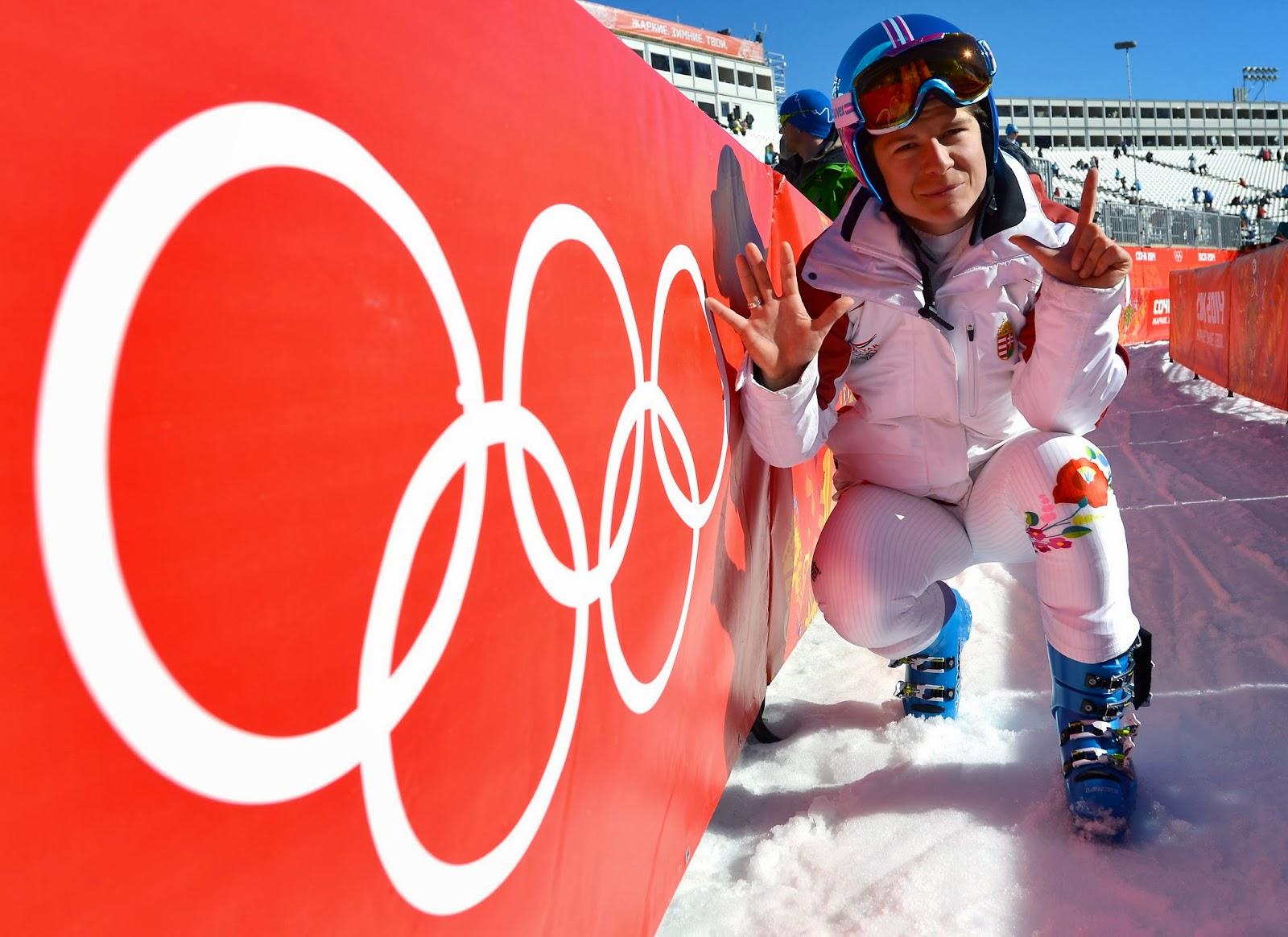 téli sportok, téli olimpiai játékok, Szocsi, lesiklás, Miklós Edit, alpesi-síverseny