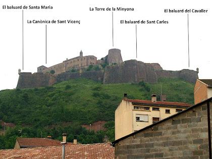 Vista sobre el Castell i la Canònica de Sant Vicenç de Cardona