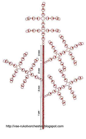 Ёлка из бисера схема плетения ветки